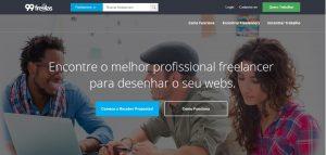 O 99freelas é um plataforma com diversos projetos de trabalho remoto aguardando profissionais qualificados para executar.