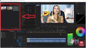 Arquivos para edição de vídeos.