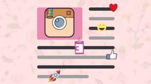 Pular linha no Instagram